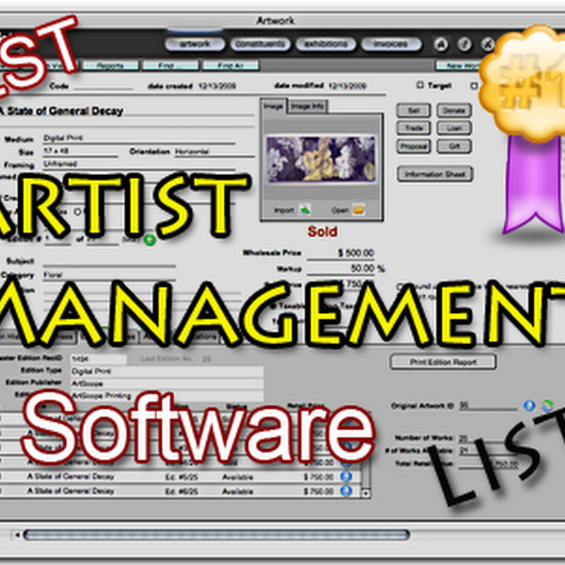 Artist Management Software for Art Tracking and Contact Lists