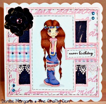 CCC challenge 165 - denim & lace