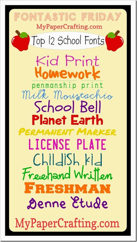 ff-school fonts label-450
