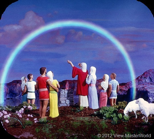 View-Master Noah's Ark (B851), Scene 21: The rainbow was God's token of love to mankind.