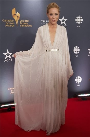 Maria Bello arrived at the Canadian Screen Awards