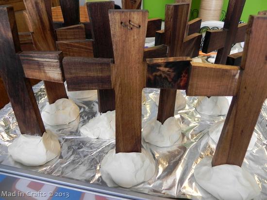 crosses in air dry clay
