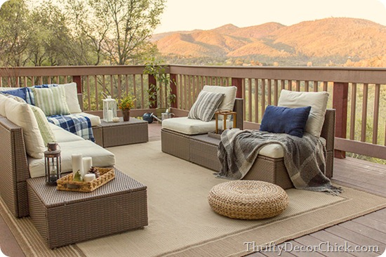 modern outdoor furniture deck