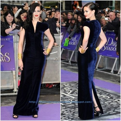 Eva Green Celebs Premiere Dark Shadows London