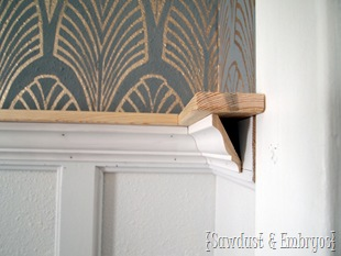 Crown Molding Shelf Tutorial {by Sawdyst and Embryos}