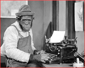 monkey at typewriter