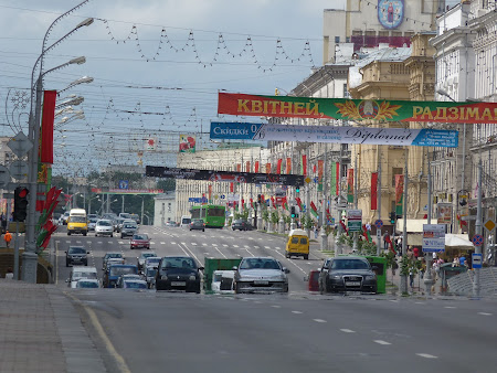 Imagini Belarus: bulevardul independentei