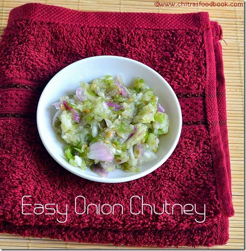 onion green chilli chutney