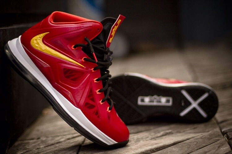 premium selection 2cf9b 2029a ... Nike LeBron X iD Miami Heat Playoffs Build by gentry187