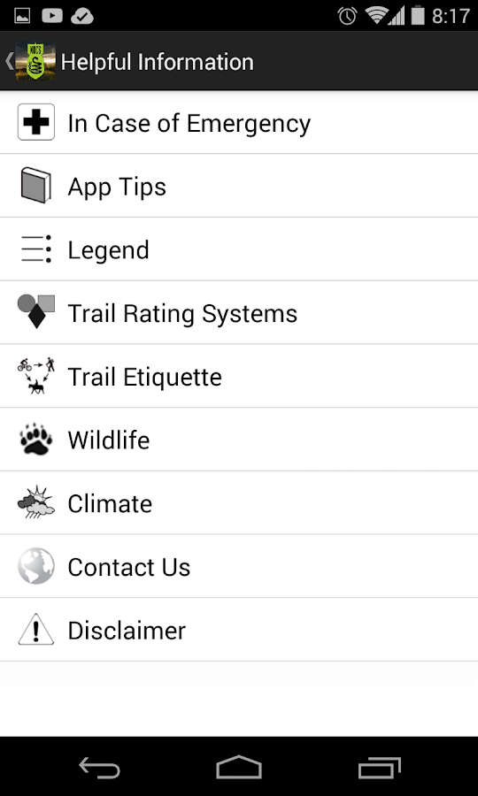 North Okanagan Trail Guide- screenshot