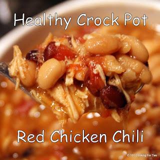 Healthy Crock Pot Red Chicken Chili