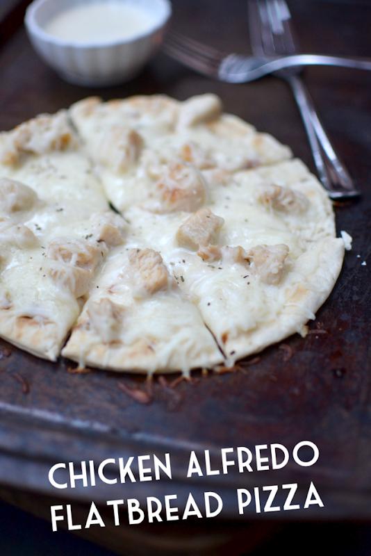 Chicken Alfedo Flatbread Pizza