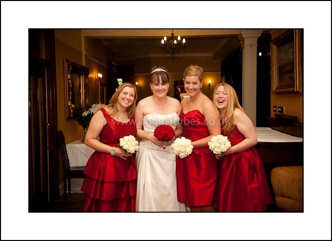 bridesmaids in scottish castle wedding