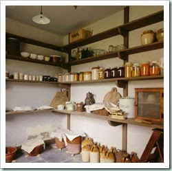 View of the Pantry at Llanerchaeron, near Aberaeron, Ceredigion, Wales