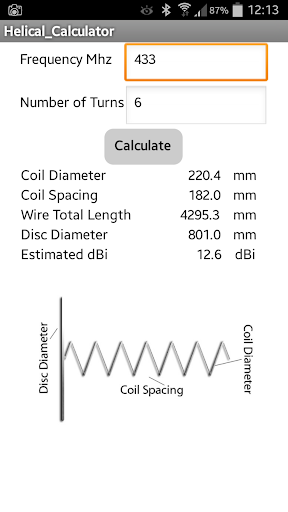 Helical Antenna Calculator