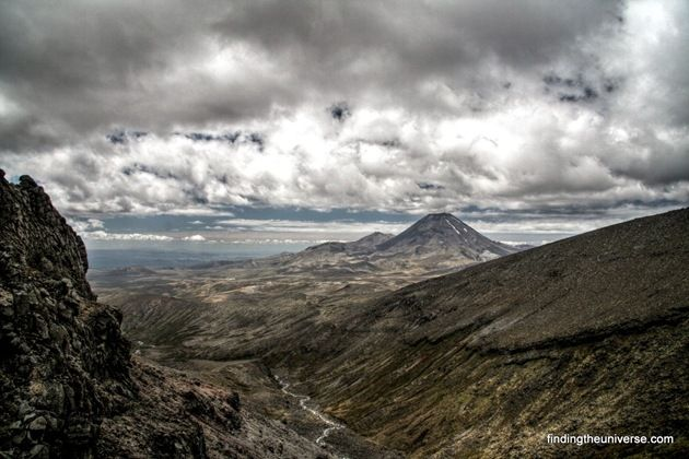 HDR view of Mount Ngauruhoe from Ruapehu