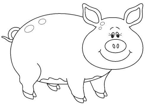Dibujos De Cerdos Para Colorear