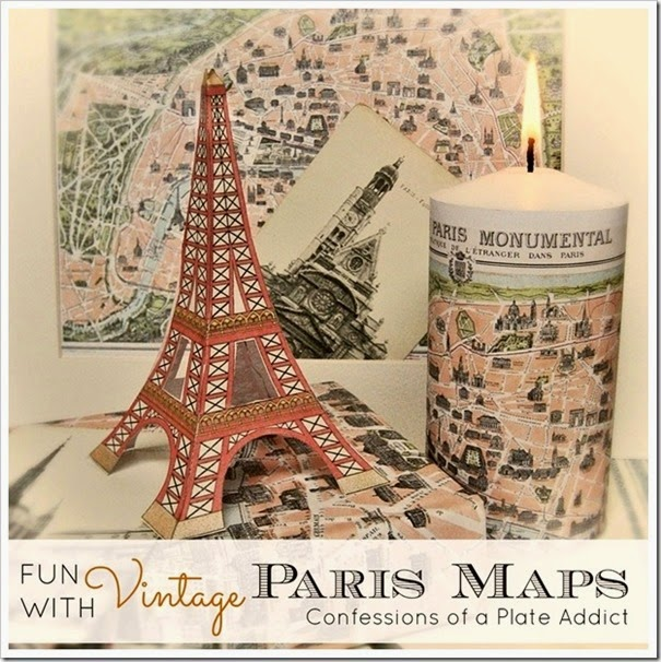 CONFESSIONS OF A PLATE ADDICT Fun with Vintage Paris Maps