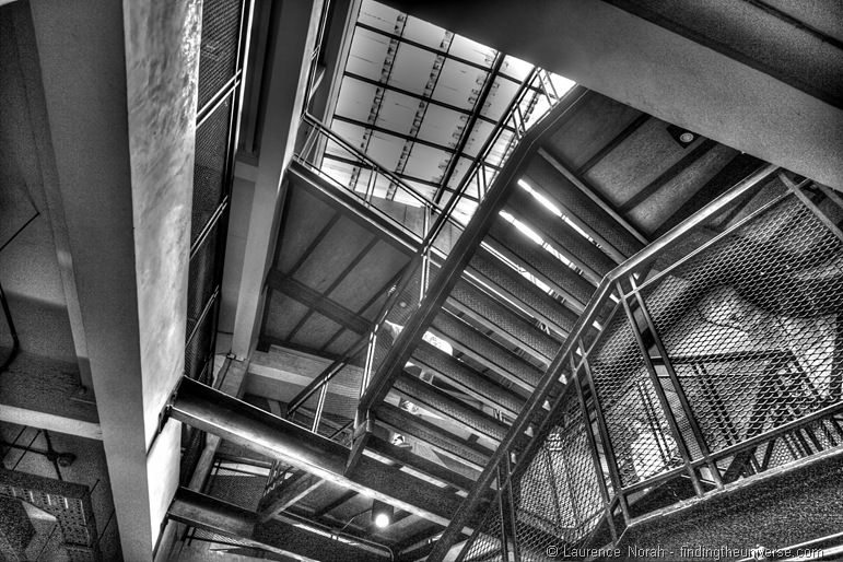 Industrial style happenings at Lub d Silom Bangkok Thailand black and white