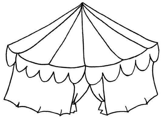 Colorir Circo Desenho Circo Colorir E Aprender