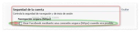 Activar HTTPS en Facebook | www.MasFB.com
