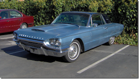 3 quarter view 1964 Thunderbird