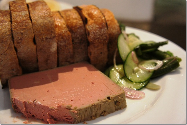 Liver pate with sourdough bread