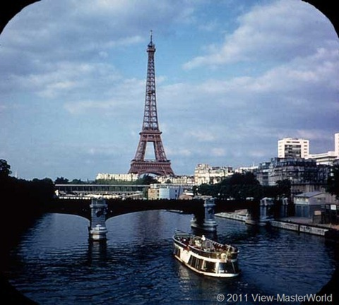 View-Master Paris, France (B177), Scene 1: Seine River and Eiffel Tower