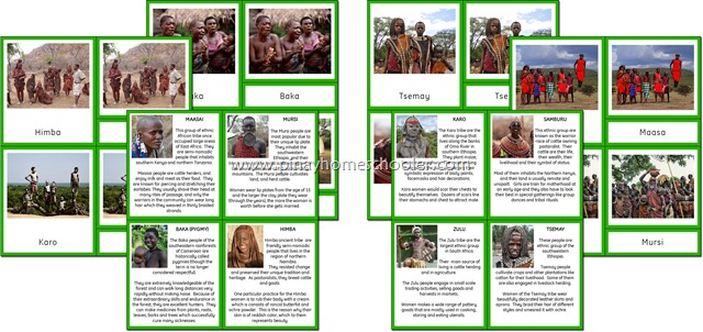 Africa Continent Ethnic Tribes