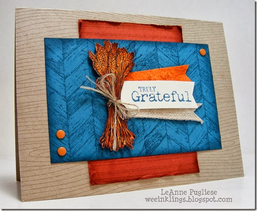 LeAnne Pugliese WeeInklings Stampin Up Truly Grateful