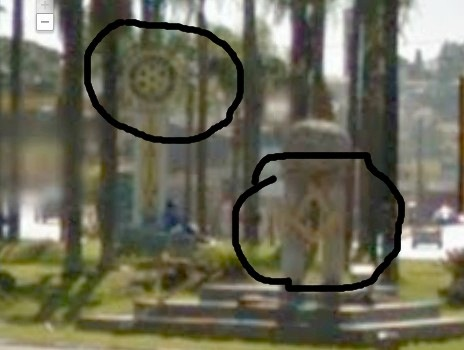 Simbolos illuminats na entrada de itatiba marcado o simbolo