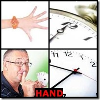 HAND- 4 Pics 1 Word Answers 3 Letters