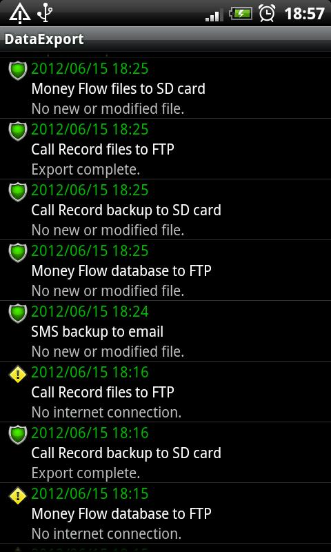 Data Backup Free - screenshot