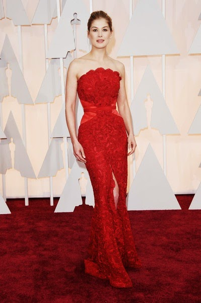 Rosamund Pike attends the 87th Annual Academy Awards