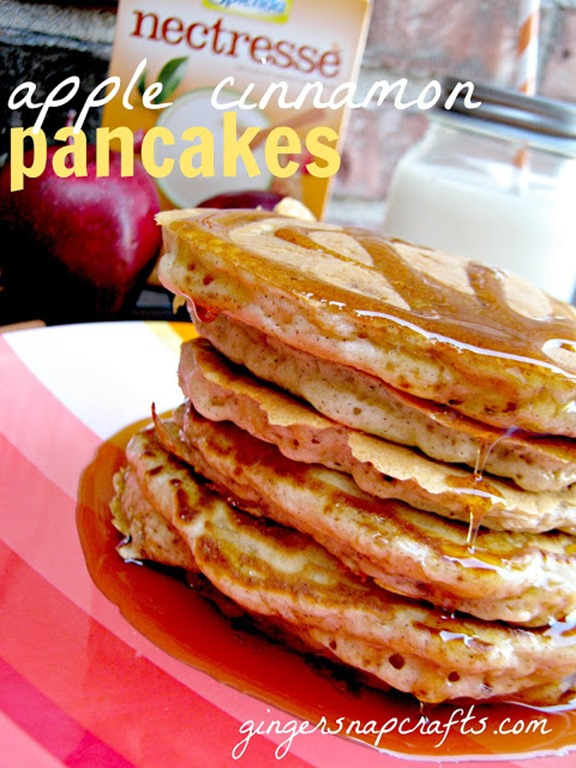apple cinnamon pancakes made with Nectresse