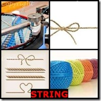 STRING- 4 Pics 1 Word Answers 3 Letters
