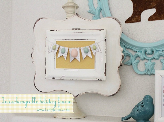 feature DIY Interchangeable Holiday Frame by Lolly Jane
