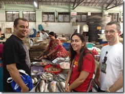 with sue and nathan at khar fish market