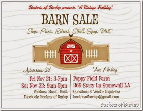 Vintage Holiday Barn Sale Invitation