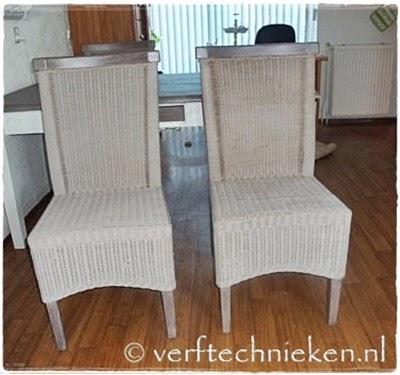 Uitzonderlijk Lloyd Loom en rieten stoelen vergrijzen #KD48