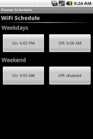 Screenshot of Power Schedule Basic
