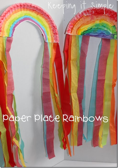 St Patrick S Day Kids Craft Paper Plate Rainbow Keeping It Simple