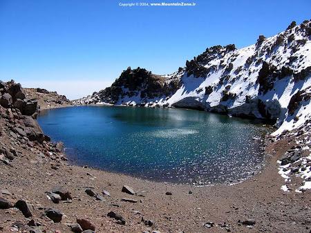 Iran Sabalan lacul de crater din varf