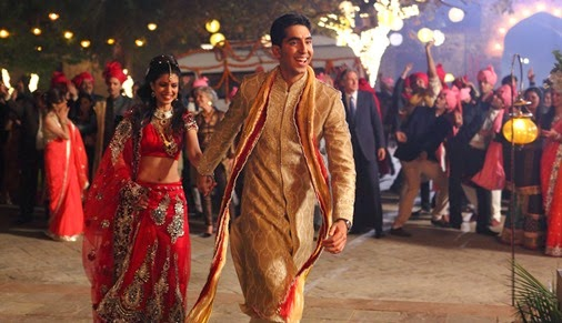 tina desai and dev patel SECOND BEST EXOTIC MARIGOLD HOTEL