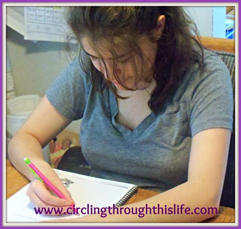 Turtlegirl completes page in Victus Study Skills System Student Workbook.