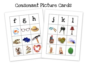 consonant card collage
