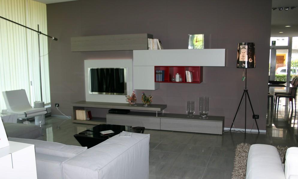 Mobile da soggiorno lampo della collezione la casa moderna for Colori muri moderni