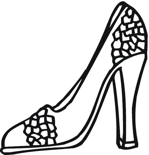 Zapatos De Tacon Para Colorear