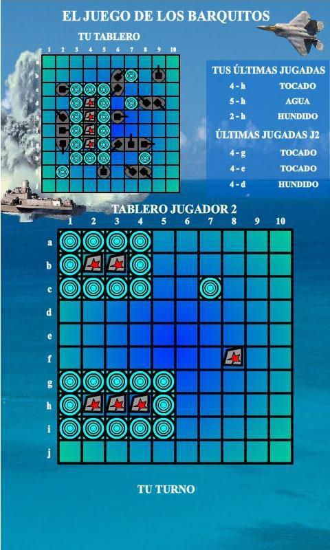 El juego de los Barquitos: captura de pantalla