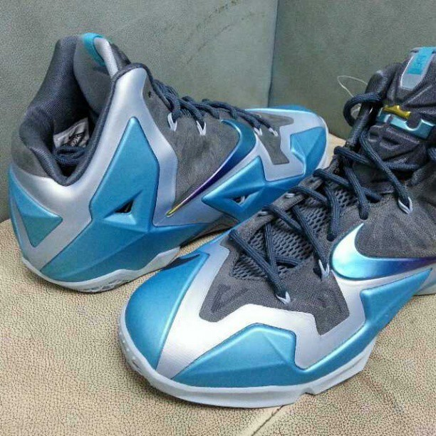 finest selection ac1b8 536c1 ... Second Look at Upcoming LEBRON 11 Armory Slate Gamma Blue ...